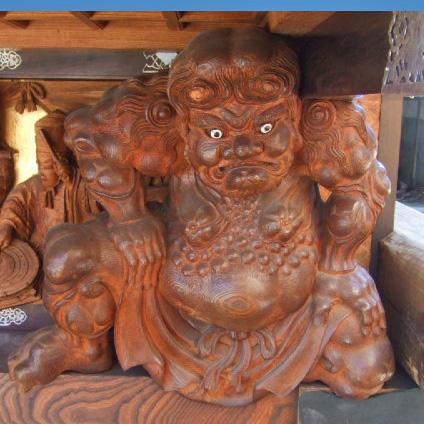 南組南車 壇箱下部 初代彫常作 イ通り側 「力人」