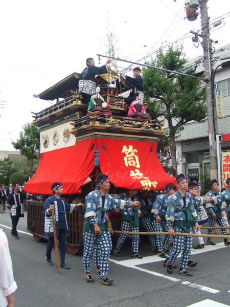 筒井町 湯取車は、旧桑名車です。江戸時代に本当に曳かれていたものなんですよ