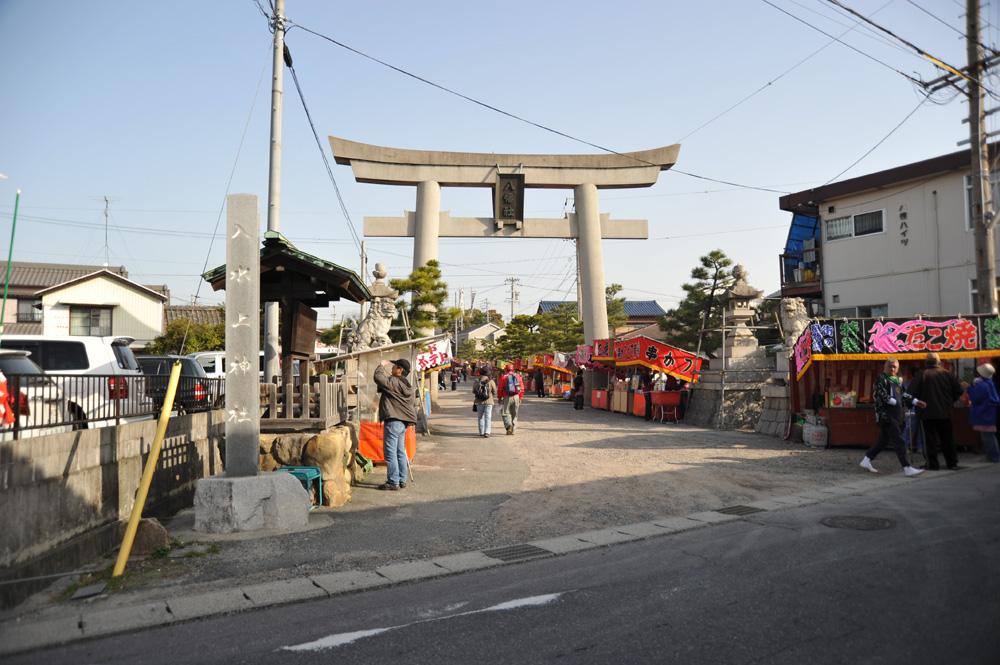 朝8時 乙川八幡社到着~ ここは「入水上神社」です!さぁ、おくるまを探しに行くぜ!