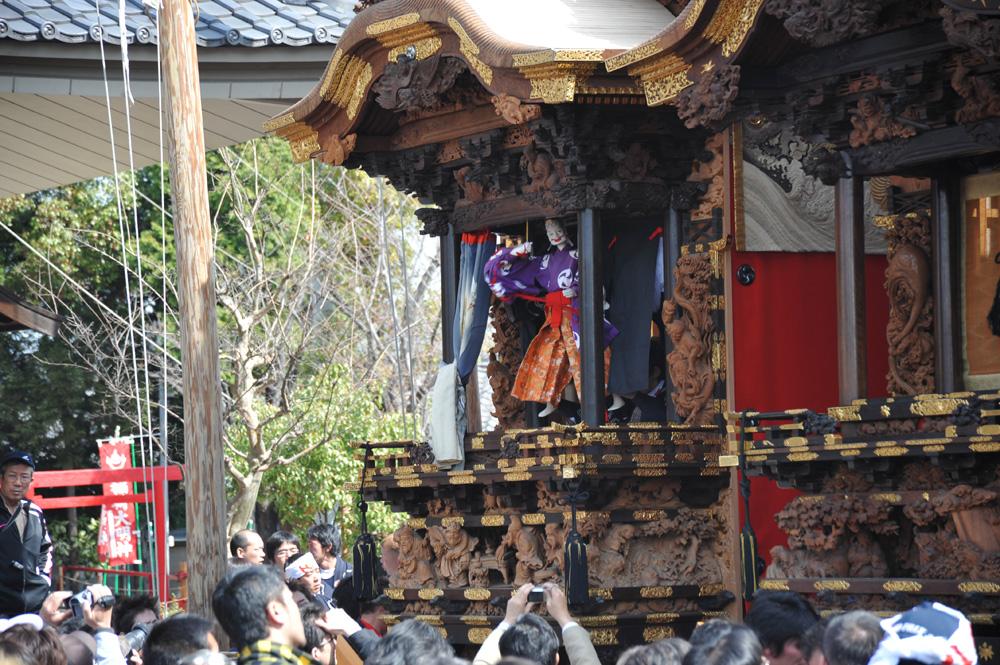 乙川八幡社で浅井山の三番叟が奉納されます。