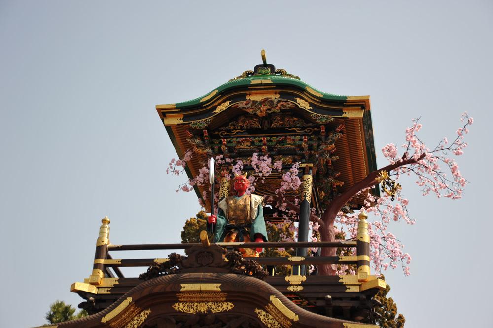 南山からくり「役小角大峯桜」02