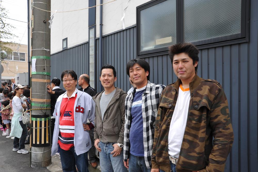 乙川浅井山の囃子方の皆さんが遊びに来てくれました。