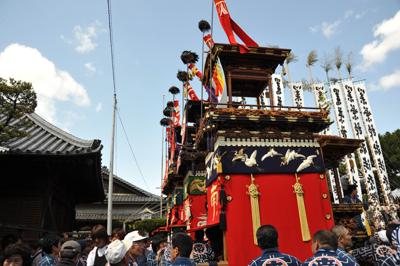 業葉神社 四輌整列しました。