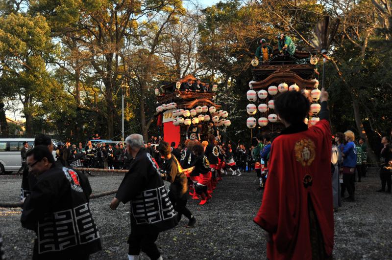 南組南車 神社への打ち込み 6