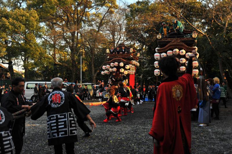 南組南車 神社への打ち込み 7