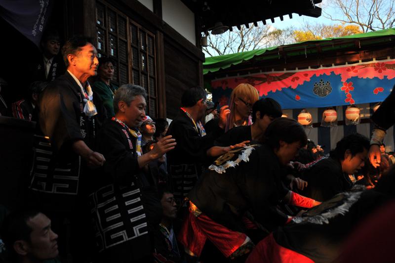 南組南車 神社への打ち込み 11
