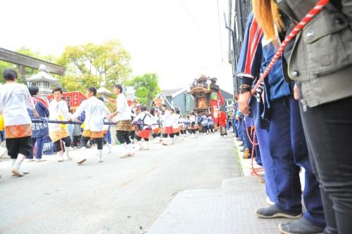 業葉神社へ打ち込み準備!