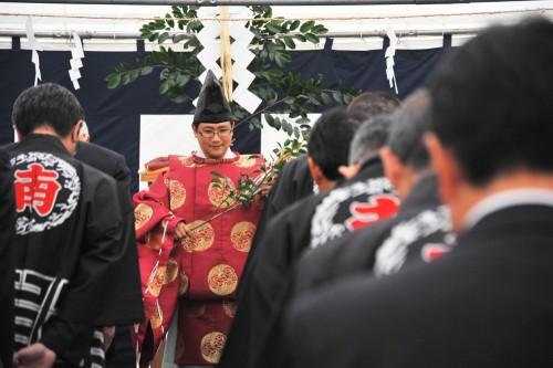 いつもどおり、乙川八幡さんから来てくれました。